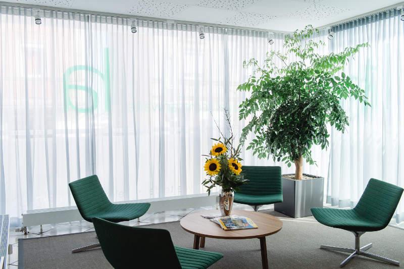 Wartebereich der Kanzlei hausel rechtsanwälte aus Cadolzburg