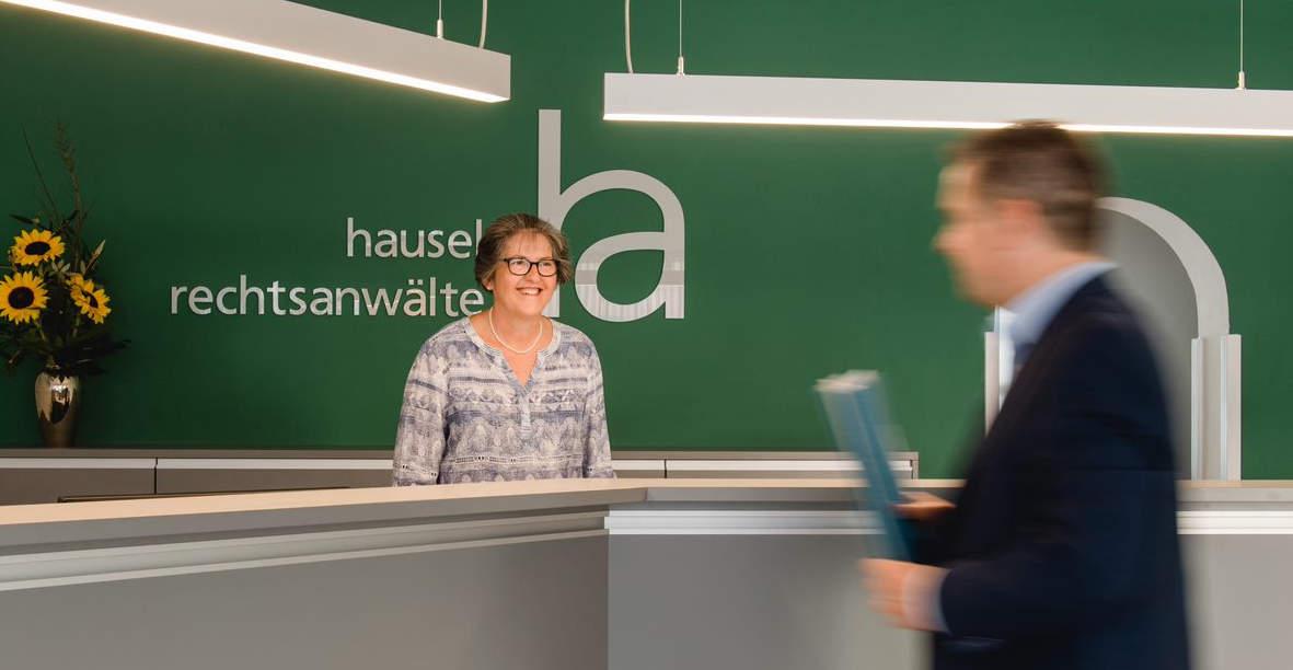 Rezeption der Kanzlei hausel rechtsanwälte aus Cadolzburg im Landkreis Fürth