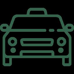 Verkehrsrecht Icon - Auto von vorne